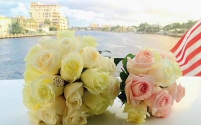Bride and flowergirl flowers
