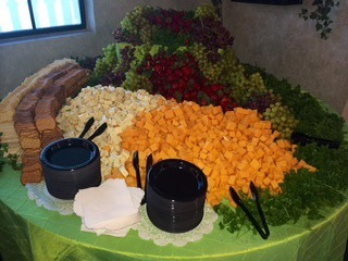 Cheese cracker display